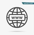 gray web site icon isolated on background modern vector image