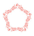 hand drawn floral autumn design elements wreath vector image vector image