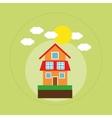 house family home energy ecology solar vector image
