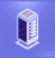 isometric template of database server vector image vector image