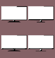 LCD television icons vector image vector image
