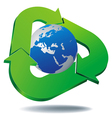 logo recycled planet vector image vector image