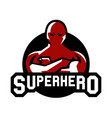 logo superman superhero costume defender city vector image