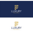 luxury logo f modern style vector image vector image
