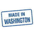 Made in washington blue square isolated stamp
