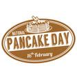 national pancake day grunge rubber stamp vector image