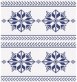 navy and white knitted background vector image vector image