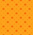 orange seamless polka dots pattern with pumpkin vector image vector image