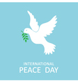 Peace dove with olive branch for Peace Day vector image