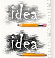pencils pen concept drawn idea v vector image