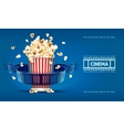 popcorn for movie theater vector image vector image