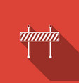 road barrier icon isolated with long shadow vector image vector image