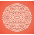 Round mandala lace ornamental background vector image vector image