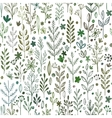 seamless hands drawn spring pattern with grass vector image