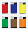 set of colorful lighters vector image vector image