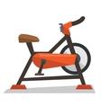 Stationary exercise bike vector image