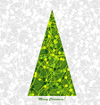 Stylized Christmas card with Christmas tree vector image vector image