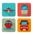 Transport delivery and shipping vector image vector image