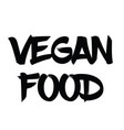 vegan food rubber stamp vector image