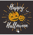 Vintage black Halloween background with pumpkins vector image vector image