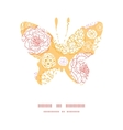 warm day flowers butterfly silhouette pattern vector image