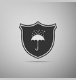 waterproof icon isolated on grey background vector image vector image