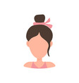 woman with hair bun vector image vector image