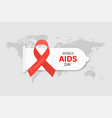 world aids day aids awareness red ribbons with vector image