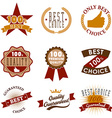 quality emblems and labels Best choice vector image