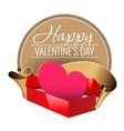 Emblem Congratulations to the Valentines Day vector image