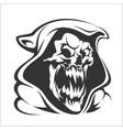 Death sign horror evil scythe ghost vector image