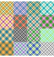 Fantasy Tartan Patterns vector image