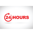 24 hours icon red vector image vector image
