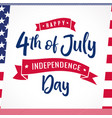 4th july striped card usa vector image vector image