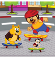 animals on skateboards vector image vector image