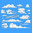 asbtract sketch blue sky clouds icon vector image vector image