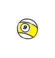 billiard ball sketch grungy doodle vector image vector image