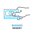 business bribery concept outline icon linear vector image