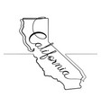 california state one line abstract icon vector image
