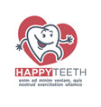 cartoon tooth logo template for child dentistry or vector image vector image