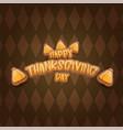 cartoot happy thanksgiving day holiday vector image