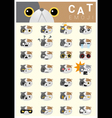 Cat emoji icons vector image