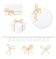 Celebration set with bakers twine bows vector image vector image