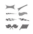checkered racing flag splatters vector image