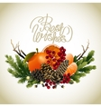 Christmas fir vignette vector image