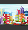 city street with funny vector image vector image