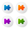 color piece puzzle icon isolated on white vector image