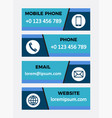 contacts banners set design elements vector image
