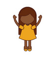 cute little black girl character vector image