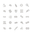 eyes health line icons set vector image